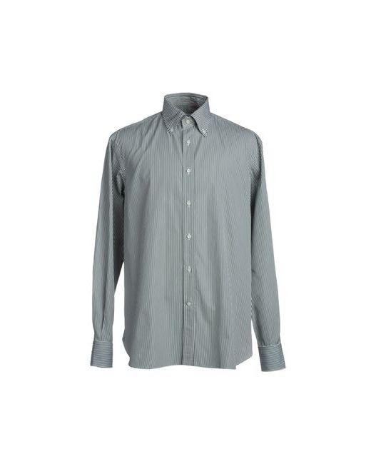 PORTACCI | Мужская Зелёная Рубашка С Длинными Рукавами