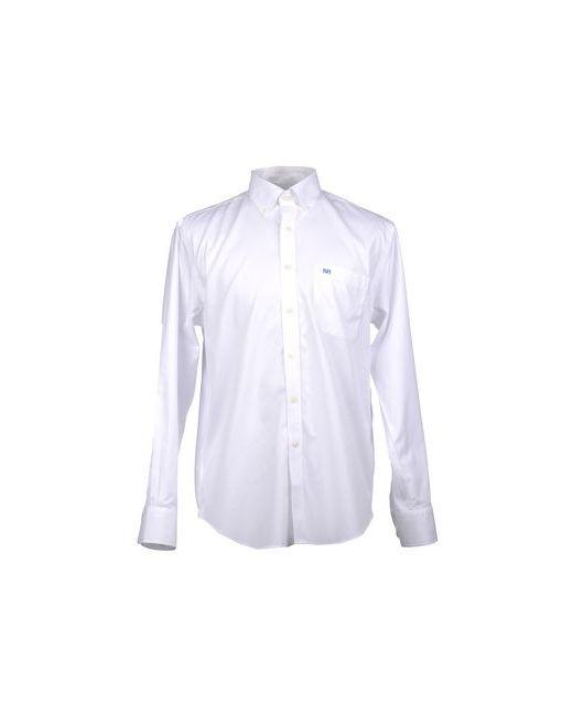 Pedro Del Hierro   Мужская Белая Рубашка С Длинными Рукавами