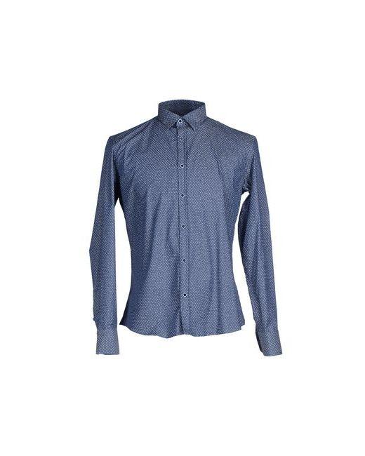 GAUTIERI   Мужская Синяя Pубашка