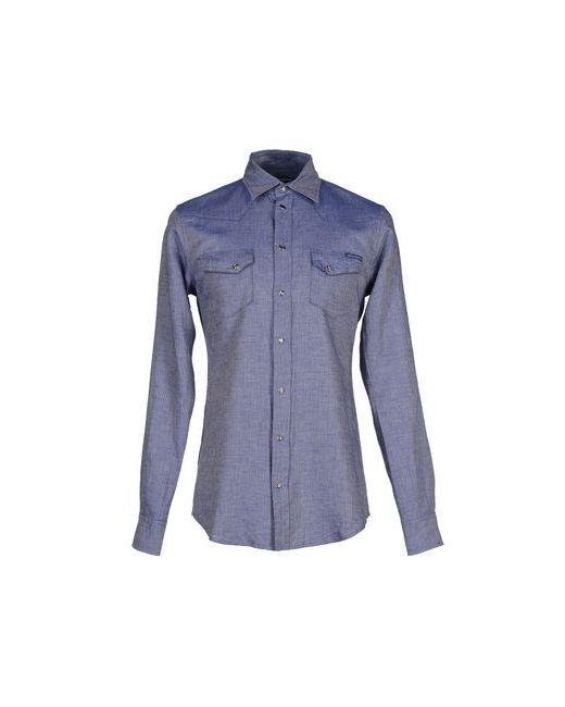 Dolce & Gabbana   Мужская Синяя Pубашка