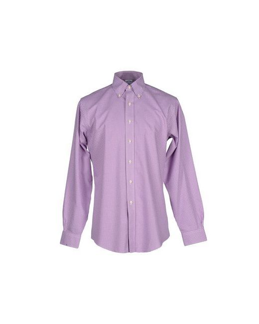 Brooks Brothers   Мужская Розовато-Лиловая Pубашка