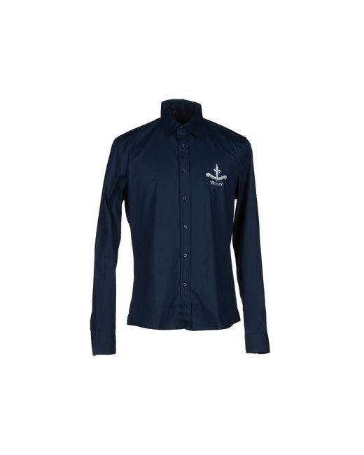 Cesare Paciotti Beachwear | Мужская Синяя Pубашка