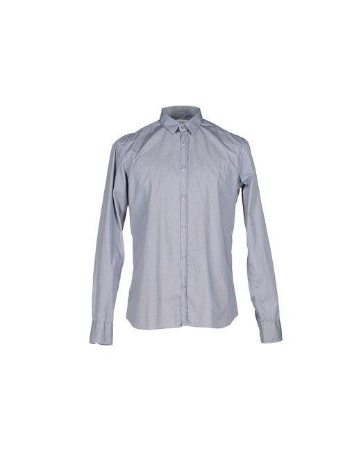 Aglini   Мужская Синяя Pубашка