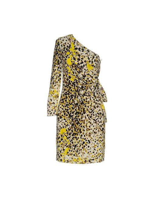 Roberto Cavalli | Женское Жёлтое Короткое Платье