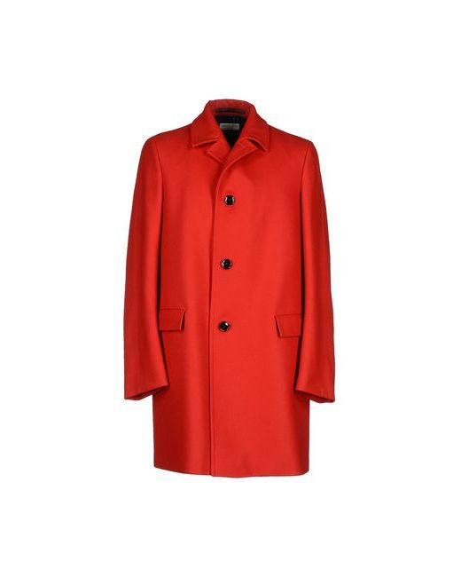 Dries Van Noten   Мужское Красное Пальто