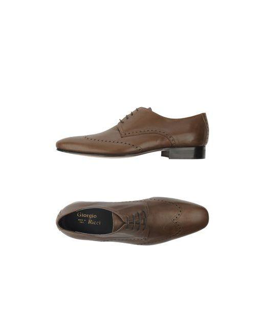 Giorgio Ricci | Мужская Хаки Обувь На Шнурках