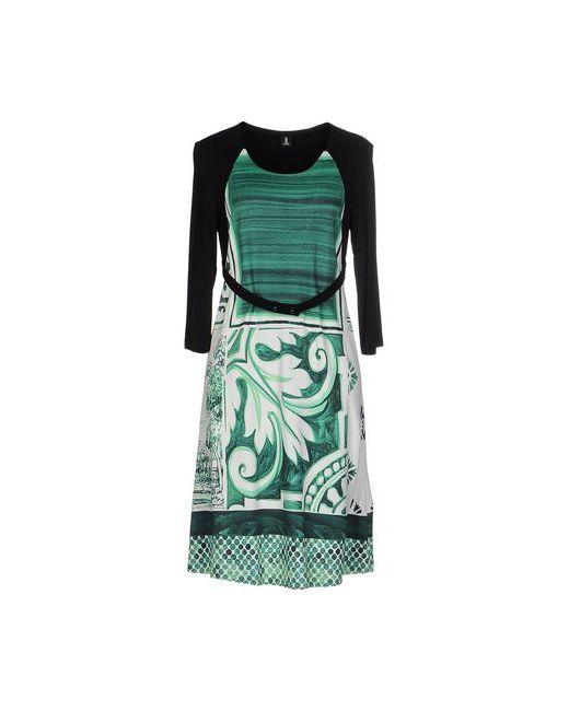1 one | Женское Зелёное Платье До Колена