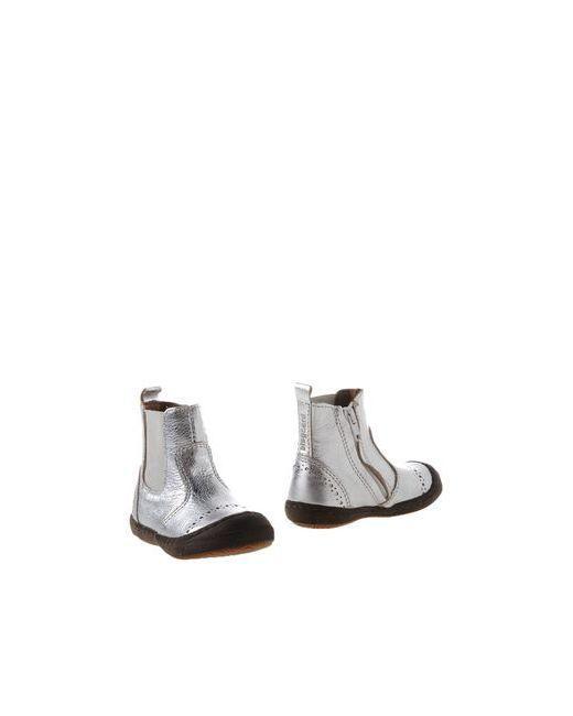 Bisgaard   Мужские Серебристые Полусапоги И Высокие Ботинки