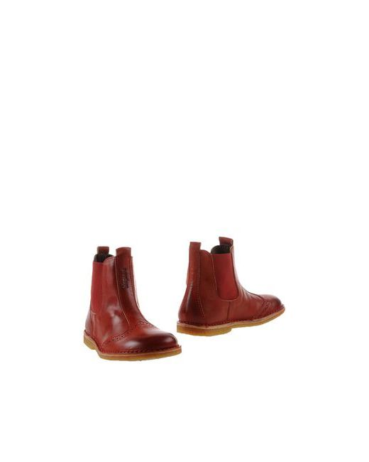 Bisgaard | Мужские Красные Полусапоги И Высокие Ботинки