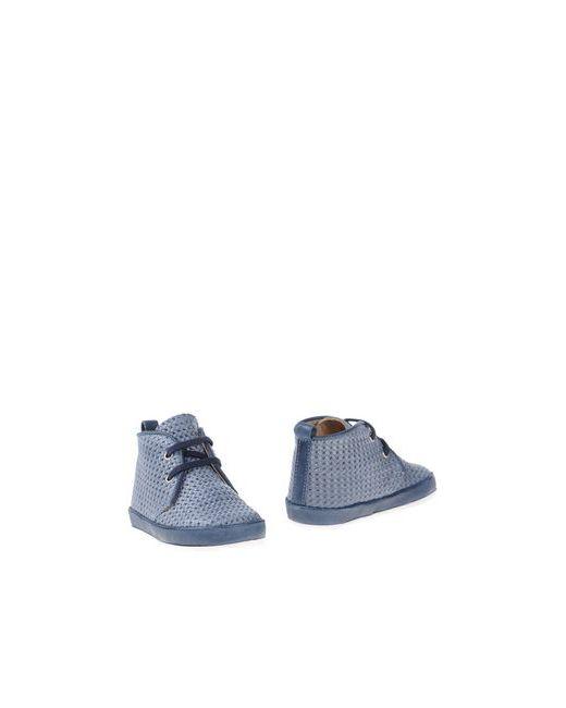 Gusella   Мужские Синие Полусапоги И Высокие Ботинки