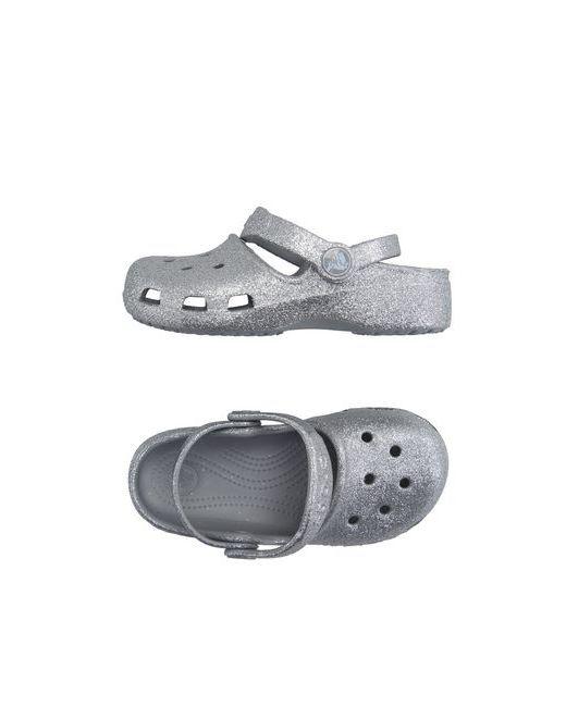 Crocs | Женские Серебристые Сандалии