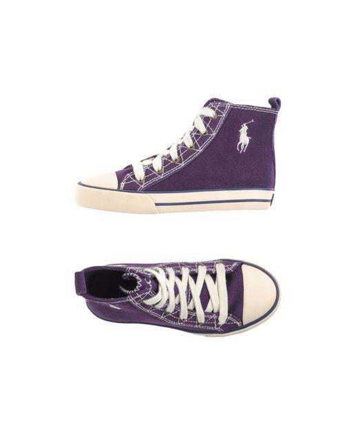 Ralph Lauren   Мужские Фиолетовые Высокие Кеды И Кроссовки