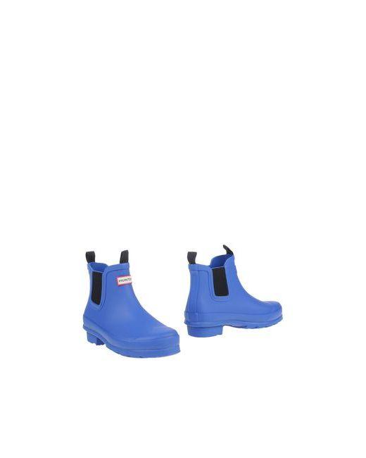 Hunter   Мужские Синие Полусапоги И Высокие Ботинки