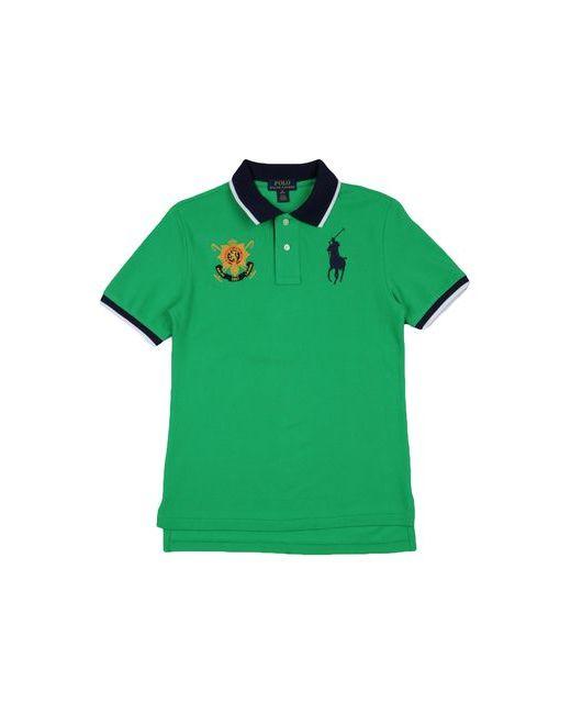 Ralph Lauren   Мужское Зелёное Поло