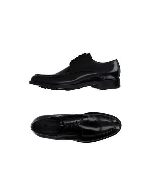 Campanile | Мужская Чёрная Обувь На Шнурках