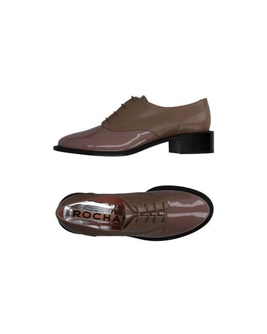 Rochas | Мужская Серая Обувь На Шнурках