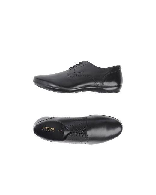 Geox | Мужская Чёрная Обувь На Шнурках