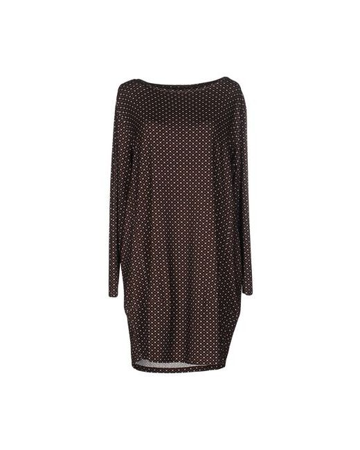 Siyu   Женское Коричневое Короткое Платье