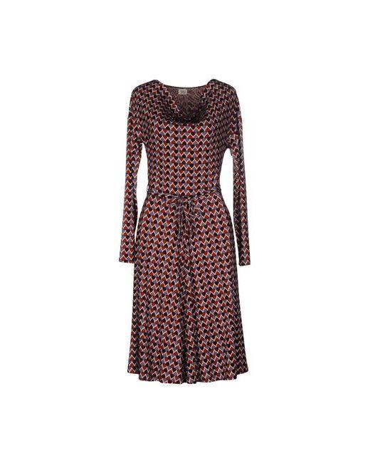 Siyu   Женское Коричневое Платье До Колена