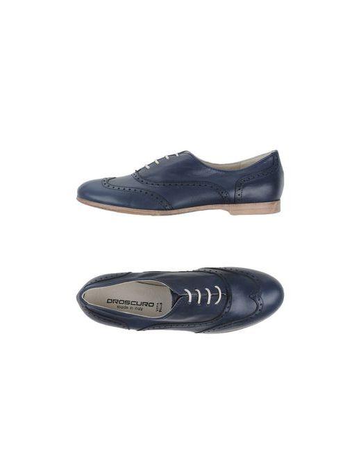 Oroscuro   Мужская Синяя Обувь На Шнурках