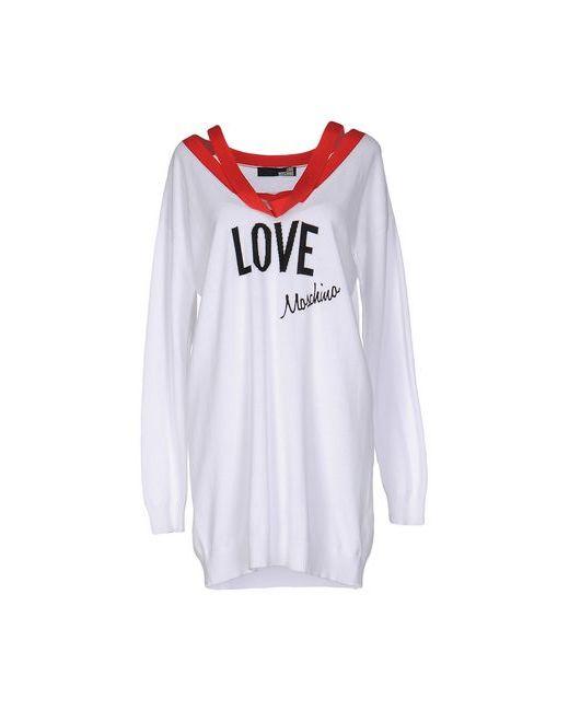 Love Moschino | Женское Белое Короткое Платье