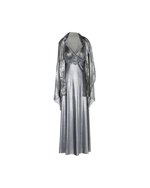 MUSANI GOLD | Женское Серое Длинное Платье