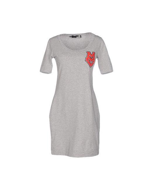 Love Moschino   Женское Серое Короткое Платье