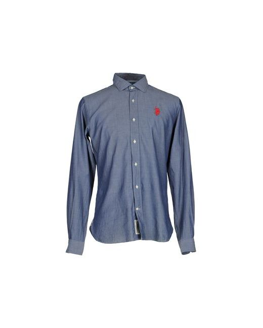 U.S. Polo Assn. | Мужская Синяя Pубашка