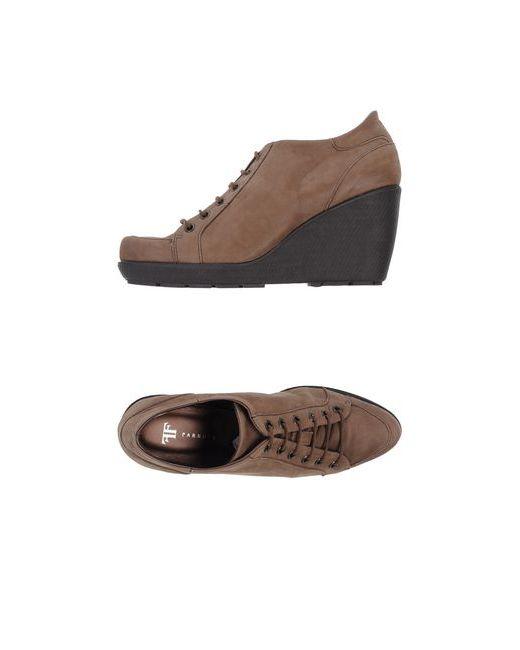 Farrutx   Женская Хаки Обувь На Шнурках