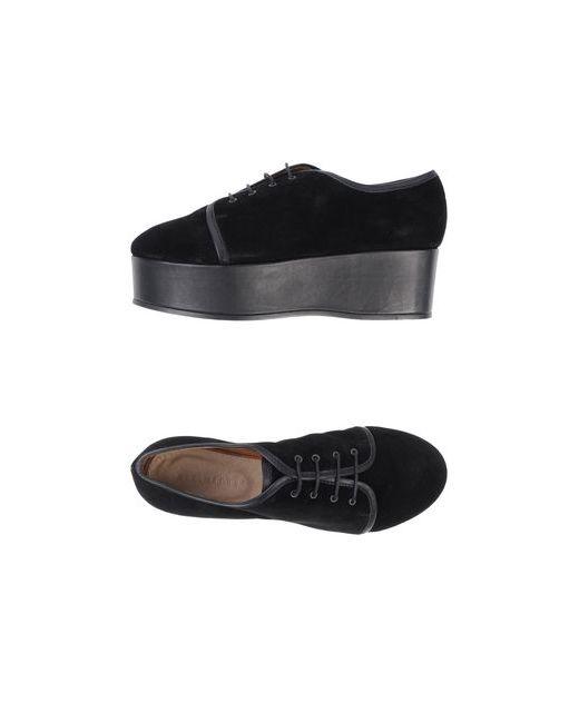 Minimarket   Женская Чёрная Обувь На Шнурках