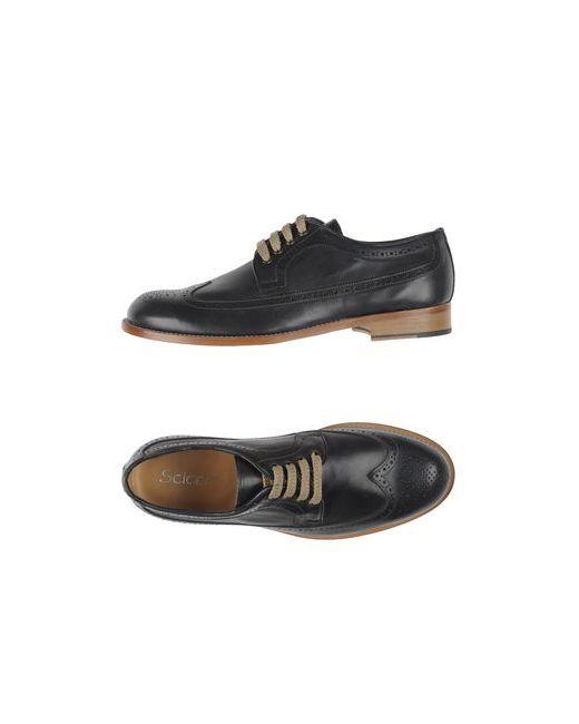 SCICCO | Мужская Синяя Обувь На Шнурках