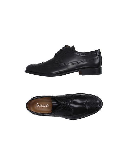 SCICCO   Мужская Чёрная Обувь На Шнурках