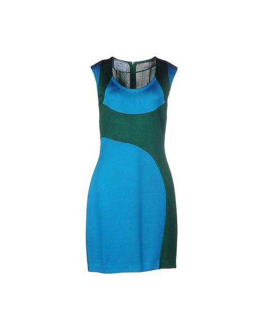 Prada | Женское Лазурное Короткое Платье