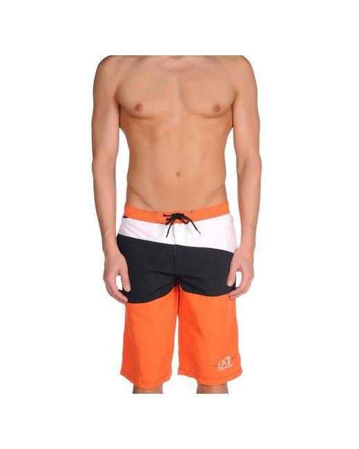 EA7 | Мужские Оранжевые Шорты Для Плавания