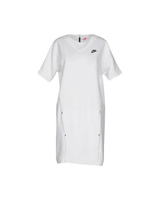 Nike | Женское Белое Короткое Платье