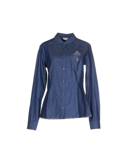 U.S. Polo Assn. | Мужская Синяя Джинсовая Рубашка