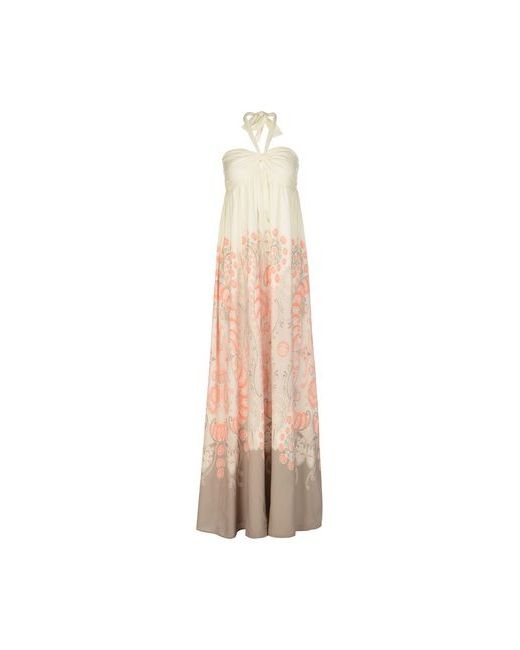 Atelier Fixdesign   Женское Слоновая Костящее Длинное Платье