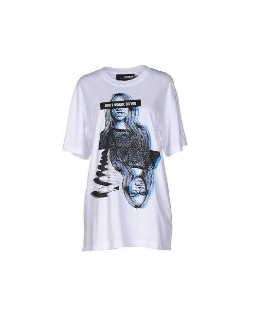 CARA D. X DKNY | Мужская Белая Футболка