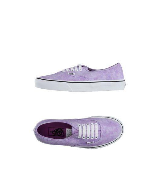 Vans   Мужские Фиолетовые Низкие Кеды И Кроссовки
