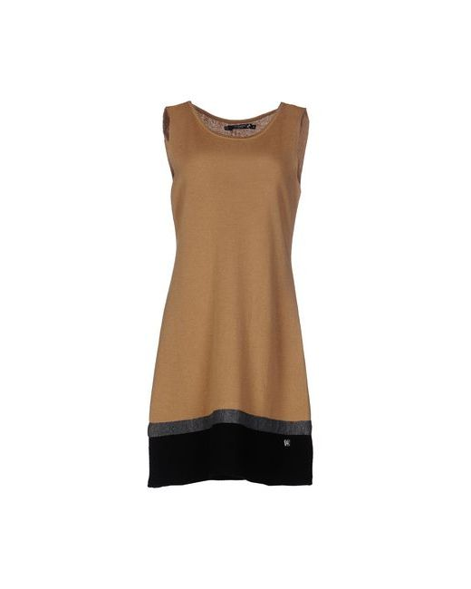 Cristinaeffe Collection | Женское Верблюжье Короткое Платье