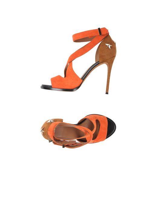 Givenchy | Женские Оранжевые Сандалии