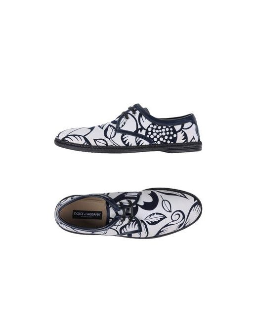 Dolce & Gabbana | Женская Белая Обувь На Шнурках