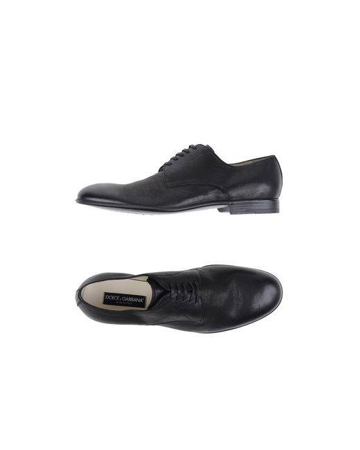 Dolce & Gabbana   Женская Чёрная Обувь На Шнурках