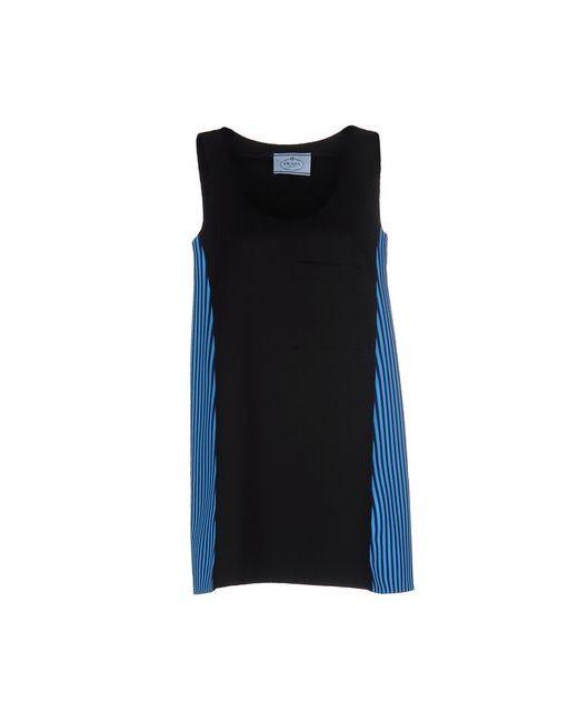 Prada | Женское Чёрное Короткое Платье