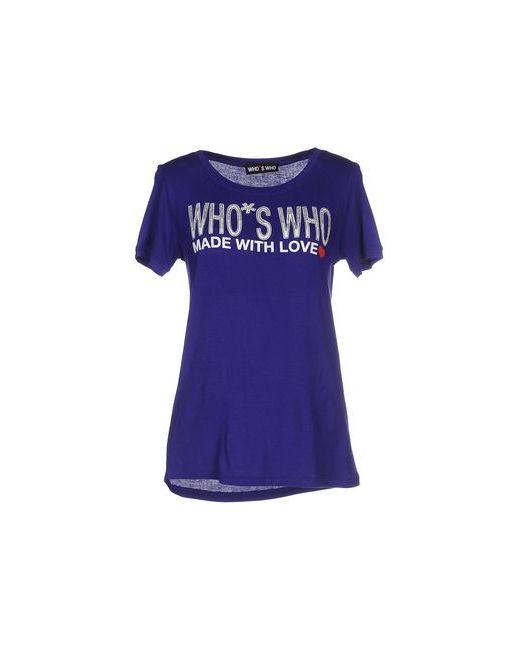 Who*S Who   Мужская Фиолетовая Футболка