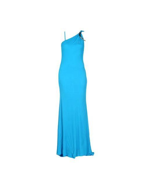 Roberto Cavalli | Женское Лазурное Длинное Платье