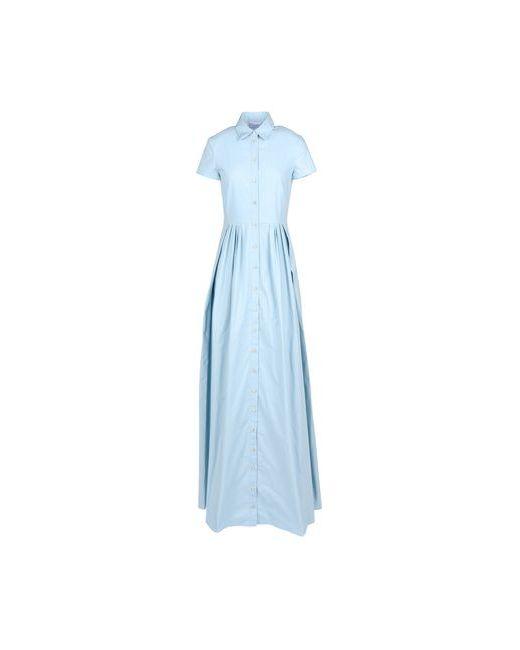 Red Valentino   Женское Голубое Длинное Платье